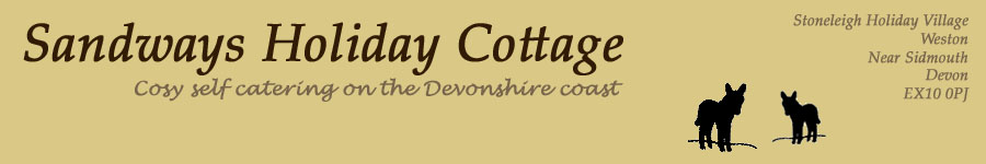 Sandways Holiday Cottage - Self Catering breaks adjacent to the Donkey Sanctuary at Stoneleigh Holiday Park, Sidmouth
